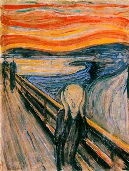 O Grito, Edvard Munch, Skrik