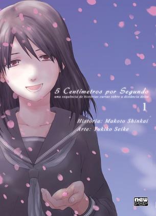 5 centimetros por segundo, 5 centimeters per seconds, Makoto Shinkai, Yukiki Seike, mangá, Editora New Pop