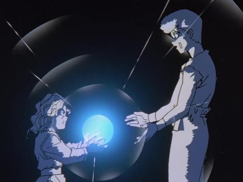 Yusuke recebendo o Leiko Hadouken de Genkai - Yu Yu Hakusho